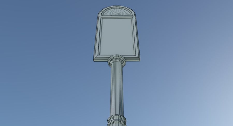 La pubblicità della via firma tre strutturati royalty-free 3d model - Preview no. 11