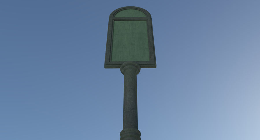 Street advertisment sign three textured royalty-free 3d model - Preview no. 6