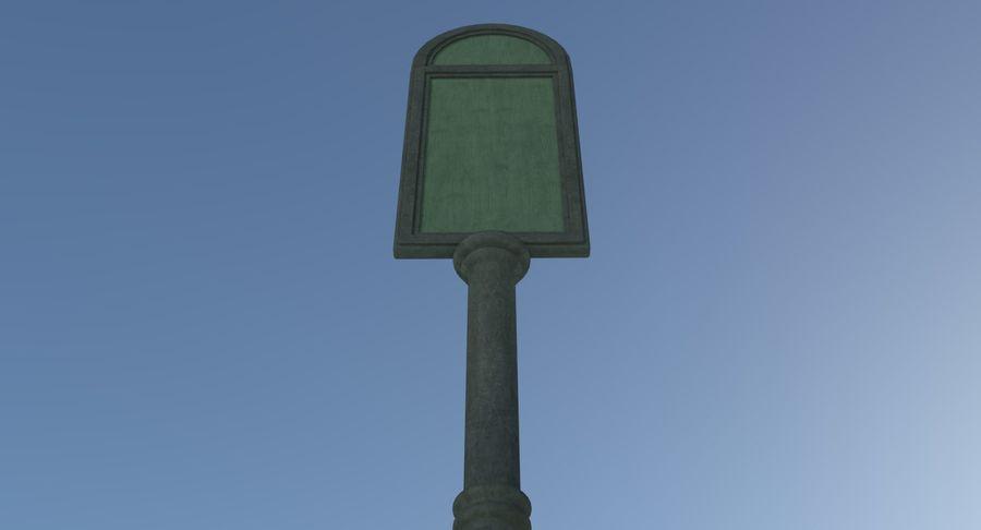 Panneau de signalisation de rue trois texturé royalty-free 3d model - Preview no. 6