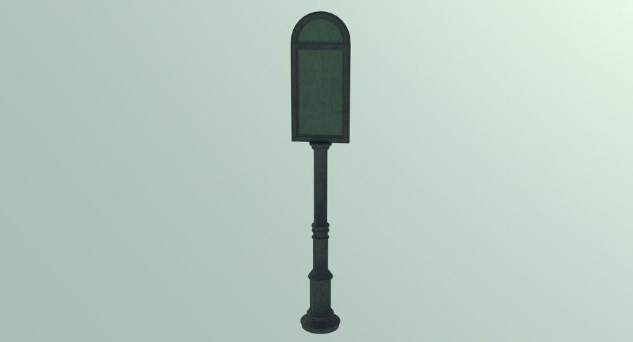 Panneau de signalisation de rue trois texturé royalty-free 3d model - Preview no. 3