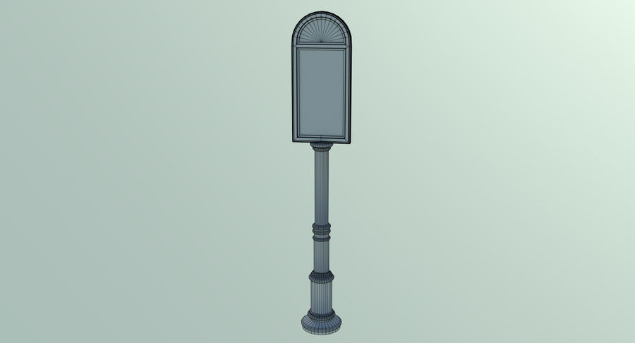 Street advertisment sign three textured royalty-free 3d model - Preview no. 8