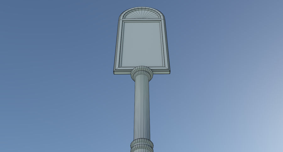 Street advertisment sign three textured royalty-free 3d model - Preview no. 11