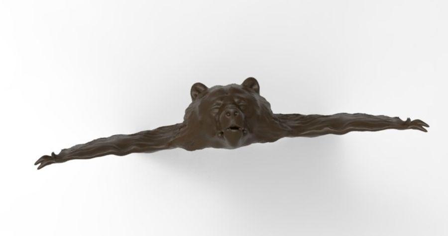 熊地毯 royalty-free 3d model - Preview no. 3