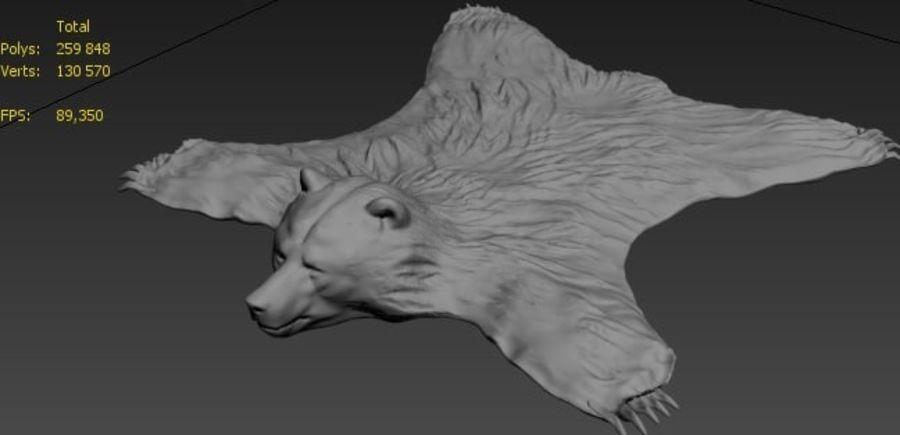 bear carpet royalty-free 3d model - Preview no. 4
