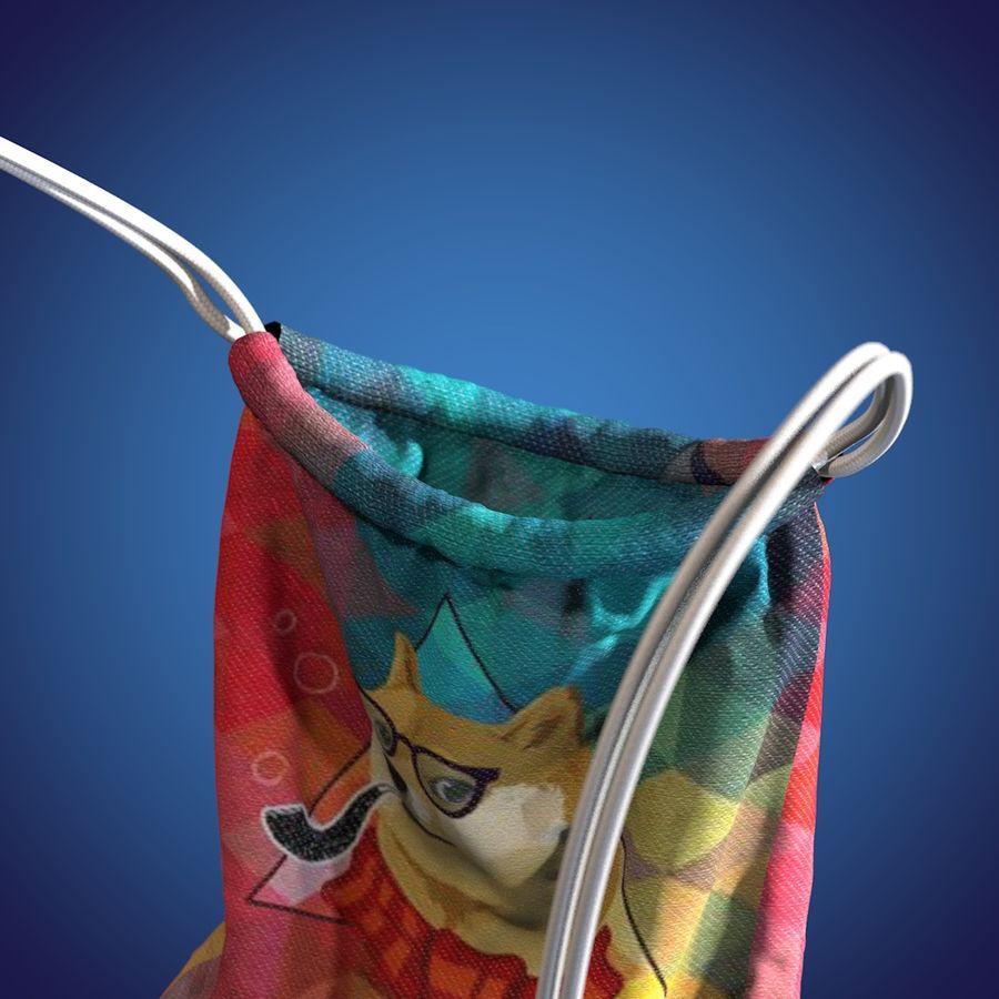 Hipster torba z animacją royalty-free 3d model - Preview no. 5