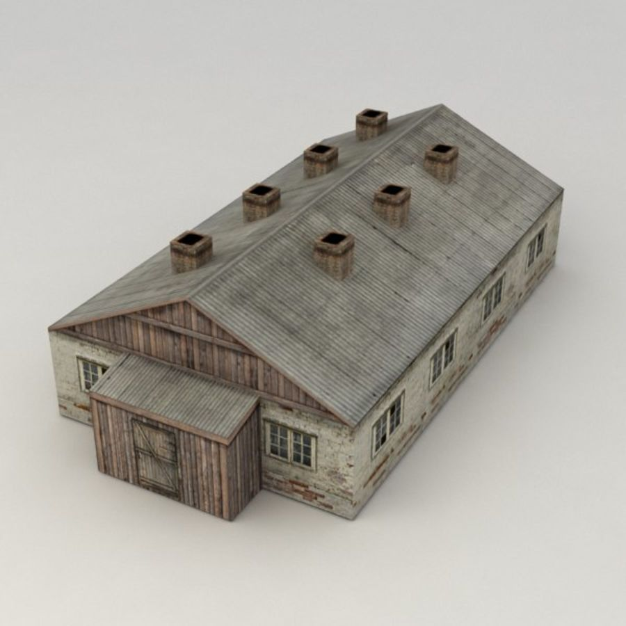 Barrack city building royalty-free 3d model - Preview no. 1