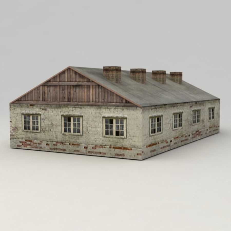 Barrack city building royalty-free 3d model - Preview no. 4