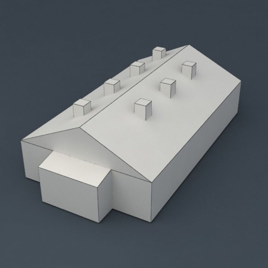Barrack city building royalty-free 3d model - Preview no. 5