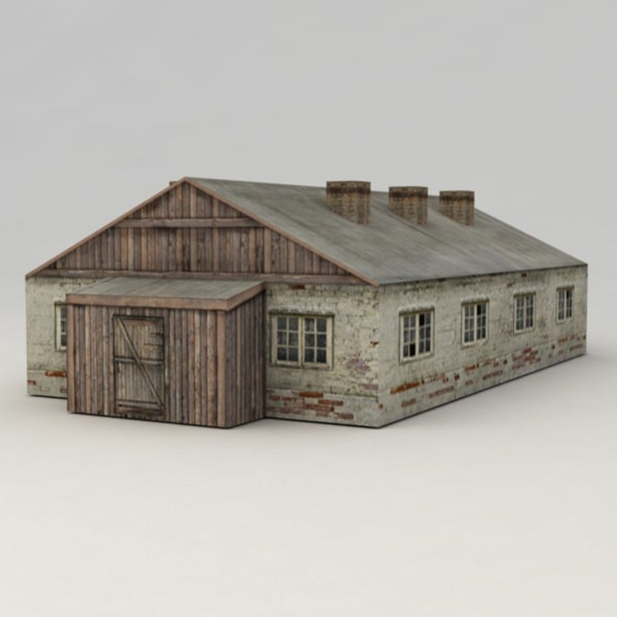 Barrack city building royalty-free 3d model - Preview no. 3