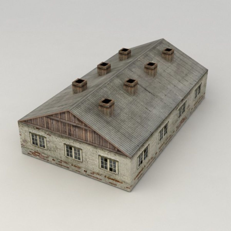 Barrack city building royalty-free 3d model - Preview no. 2