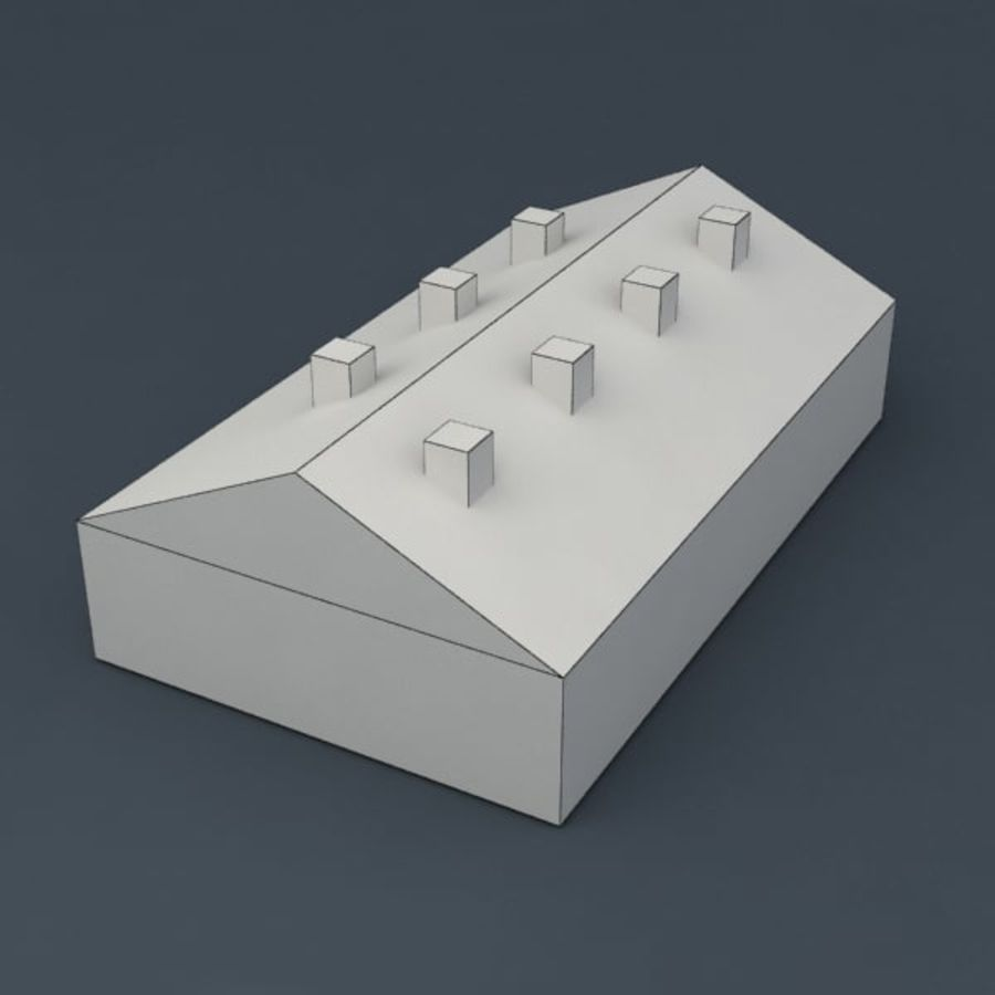 Barrack city building royalty-free 3d model - Preview no. 6