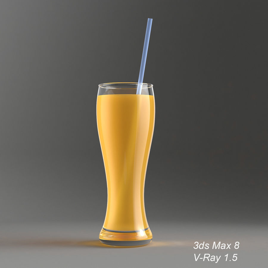 Juice Glass royalty-free 3d model - Preview no. 4