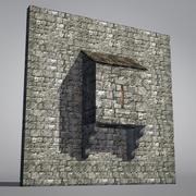 Estrutura defensiva modular do baixo castelo poli 3d model