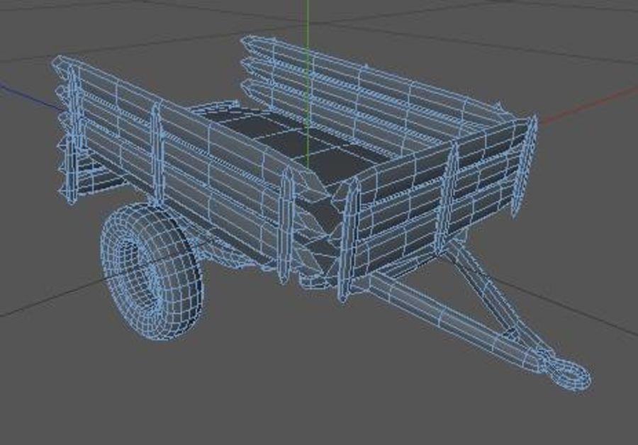 低ポリカートレーラー(1) royalty-free 3d model - Preview no. 5