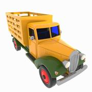 만화 빈티지 트럭 3d model