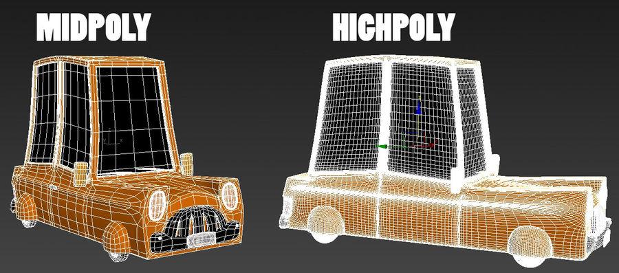 Çizgi Araba royalty-free 3d model - Preview no. 6