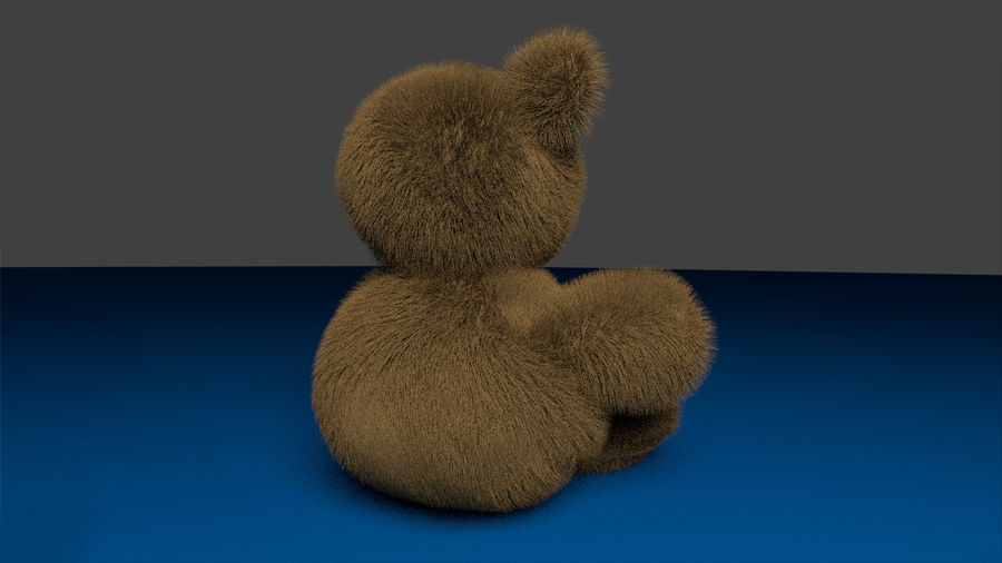 Teddy bear royalty-free 3d model - Preview no. 6