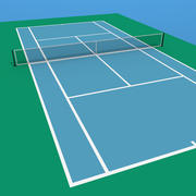Een tennisbaan 3d model
