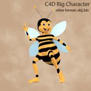 Carácter aparejado abeja modelo 3d