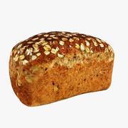パン全粒粉パン 3d model