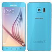 Samsung Galaxy S6 bord bleu 3d model