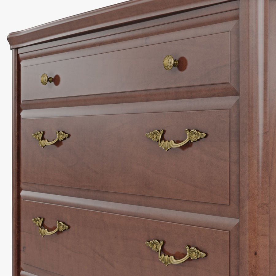 Furniture Classic Wooden Commode royalty-free 3d model - Preview no. 8