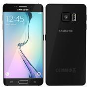 Samsung Galaxy S6 edge sapphire black 3d model