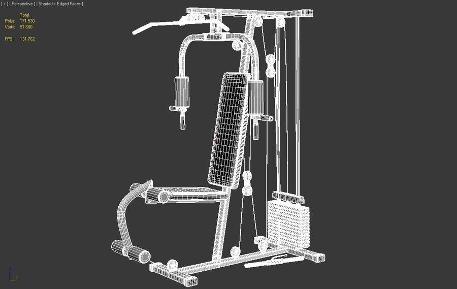 체육관 멀티 체육관 장비 royalty-free 3d model - Preview no. 4