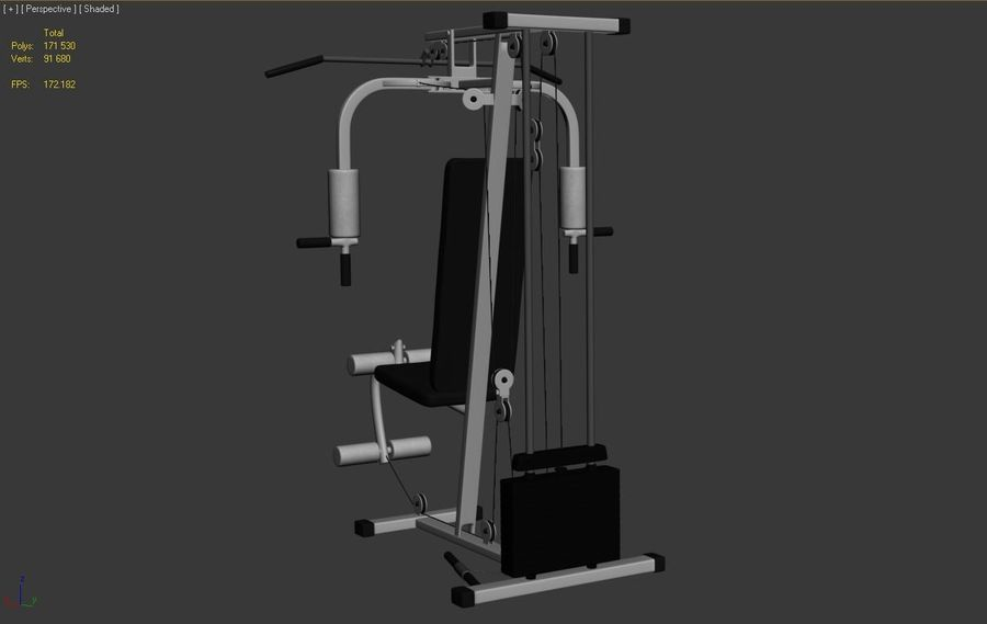 체육관 멀티 체육관 장비 royalty-free 3d model - Preview no. 3