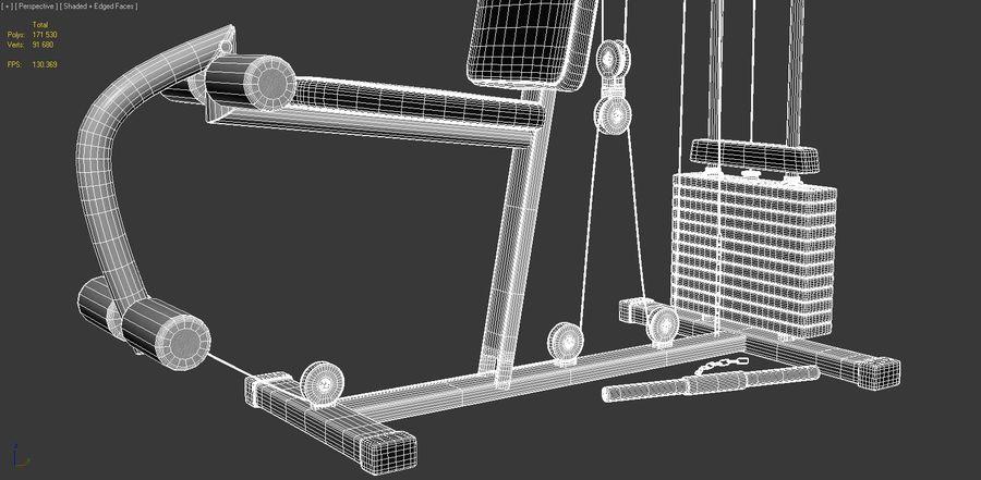 체육관 멀티 체육관 장비 royalty-free 3d model - Preview no. 6