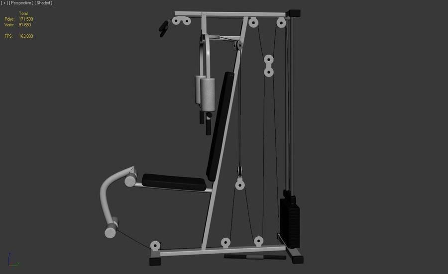 체육관 멀티 체육관 장비 royalty-free 3d model - Preview no. 2