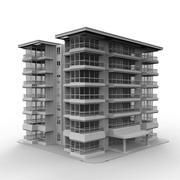 アパートの建物1 3d model