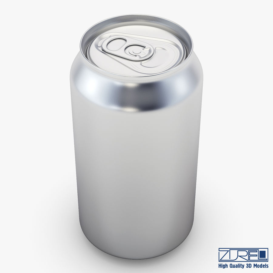 Canette de soda en aluminium v 1 royalty-free 3d model - Preview no. 1