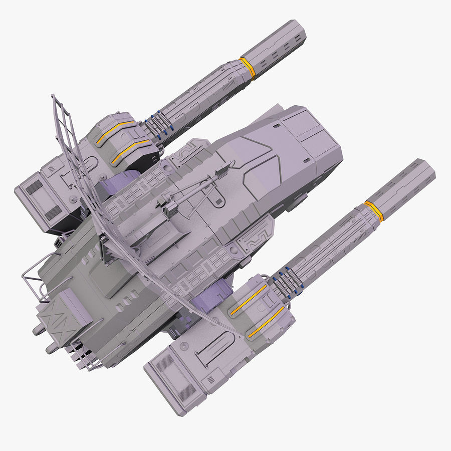 Sci-Fi Weapon Collection royalty-free 3d model - Preview no. 4
