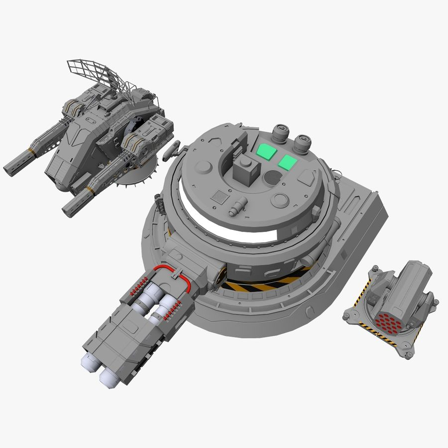 Sci-Fi Weapon Collection royalty-free 3d model - Preview no. 1