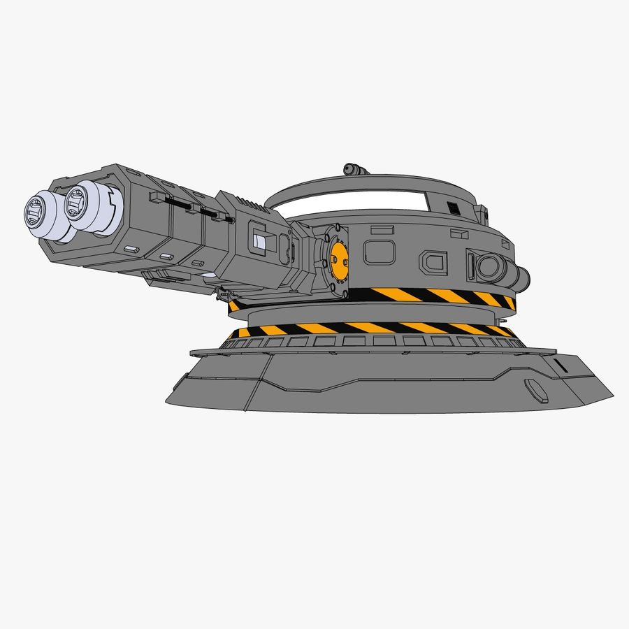 Sci-Fi Weapon Collection royalty-free 3d model - Preview no. 18