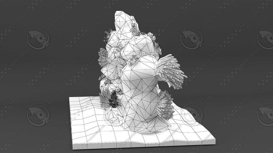 - koraalrif - opgetuigd en geanimeerd royalty-free 3d model - Preview no. 10