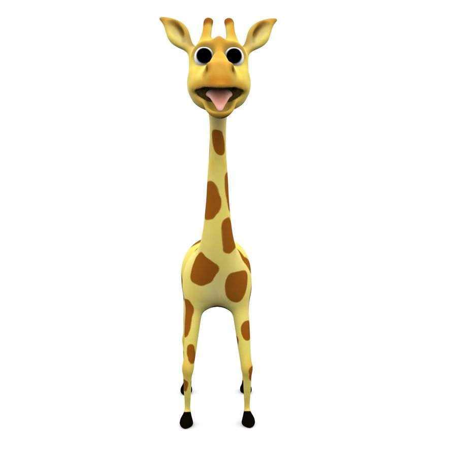 Jirafa de dibujos animados royalty-free modelo 3d - Preview no. 3