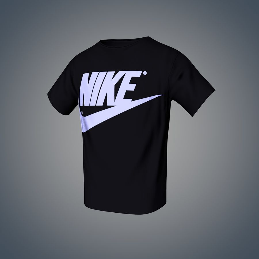 Camiseta de nike royalty-free modelo 3d - Preview no. 3