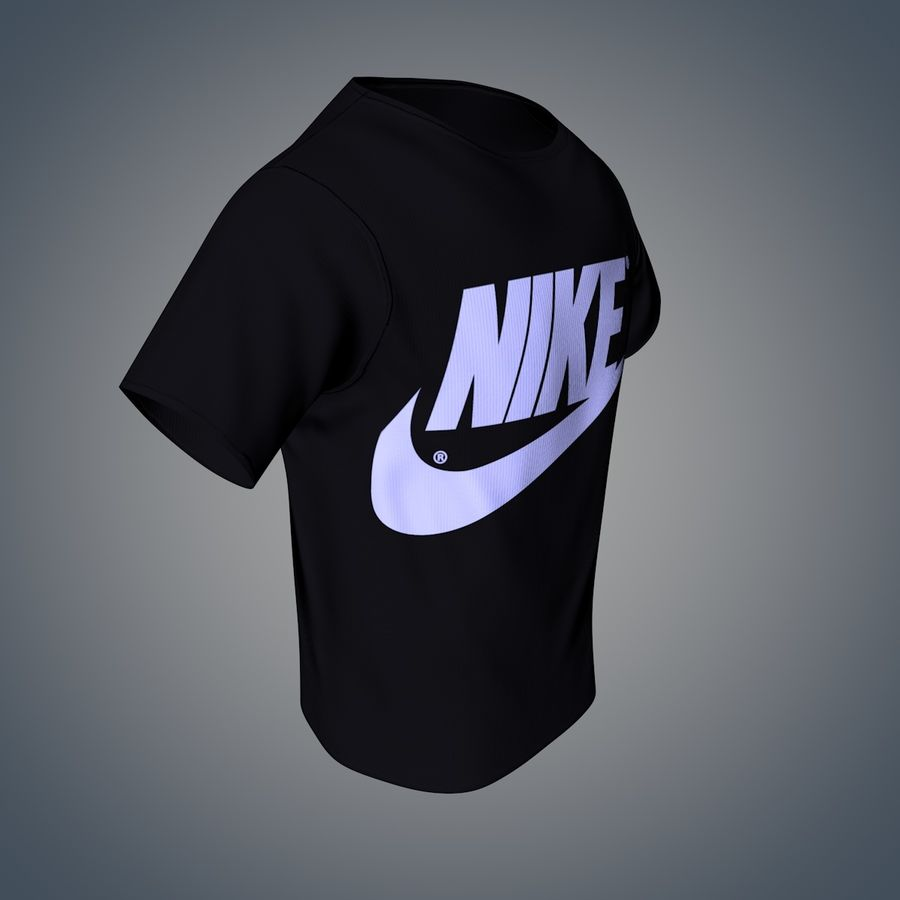 Camiseta de nike royalty-free modelo 3d - Preview no. 4