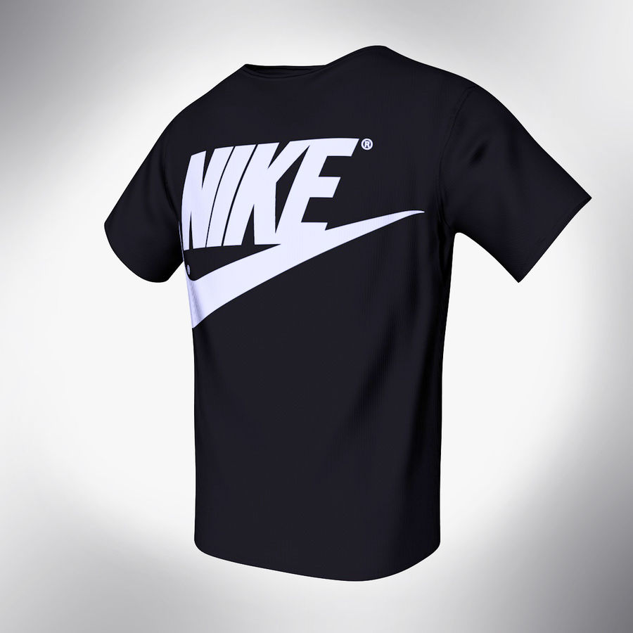 Camiseta de nike royalty-free modelo 3d - Preview no. 2
