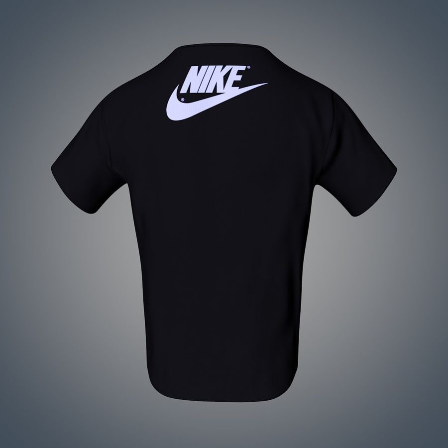 Camiseta de nike royalty-free modelo 3d - Preview no. 6