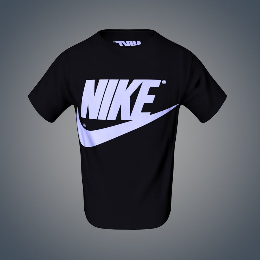 Camiseta de nike royalty-free modelo 3d - Preview no. 9