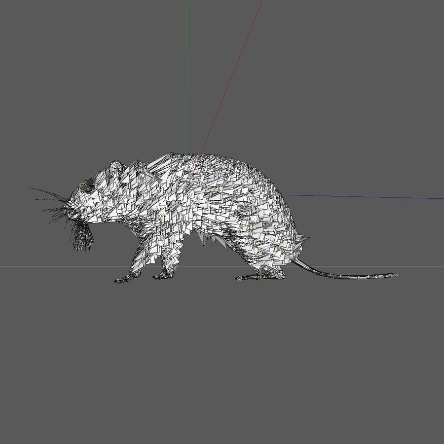 Animated Walking Black Mouse royalty-free 3d model - Preview no. 11
