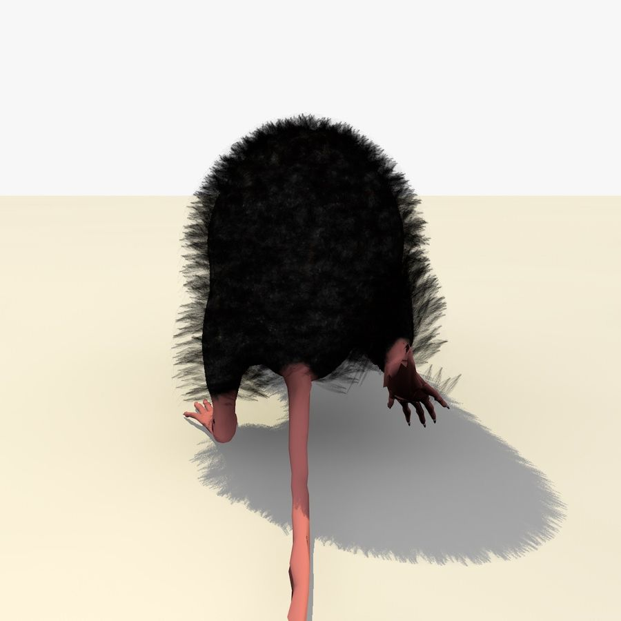 Animated Walking Black Mouse royalty-free 3d model - Preview no. 8