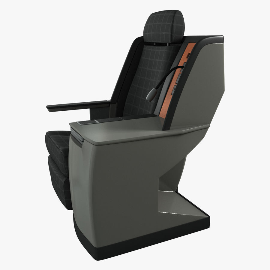 First Class Airplane Seat (Rigged) royalty-free 3d model - Preview no. 7