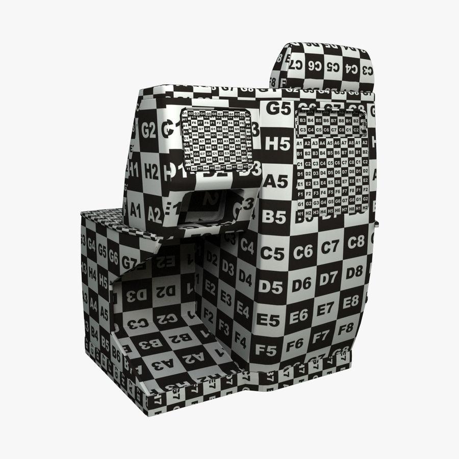 头等舱飞机座椅(Rigged) royalty-free 3d model - Preview no. 5
