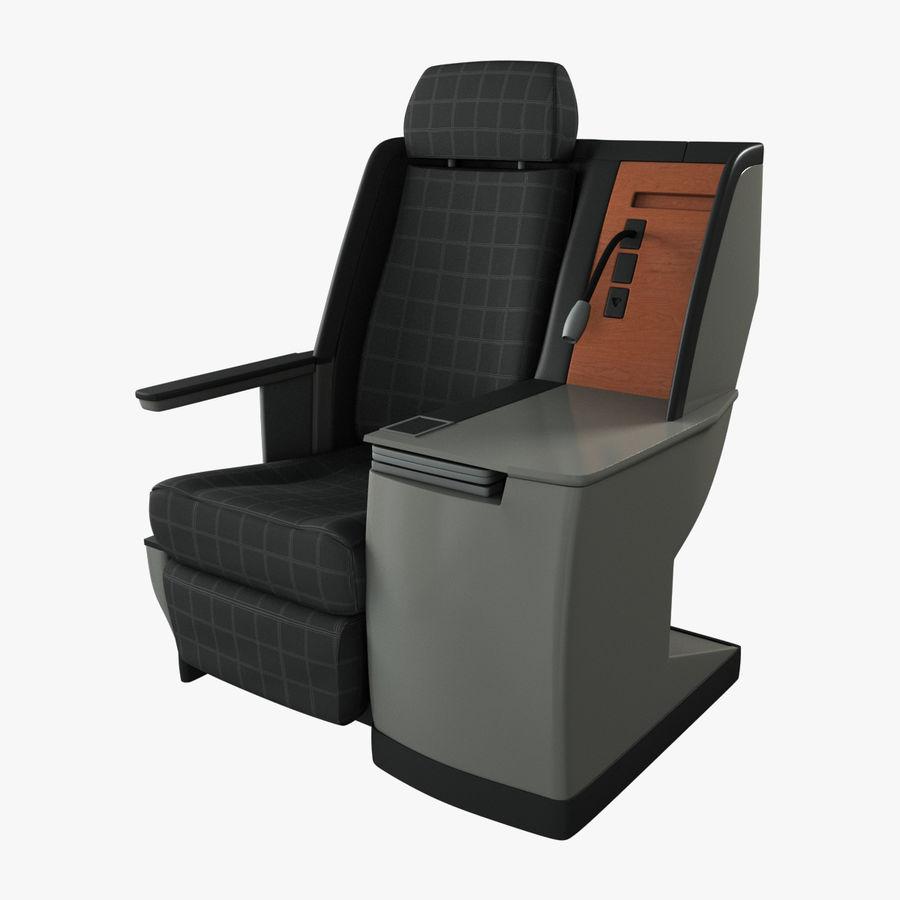 头等舱飞机座椅(Rigged) royalty-free 3d model - Preview no. 1