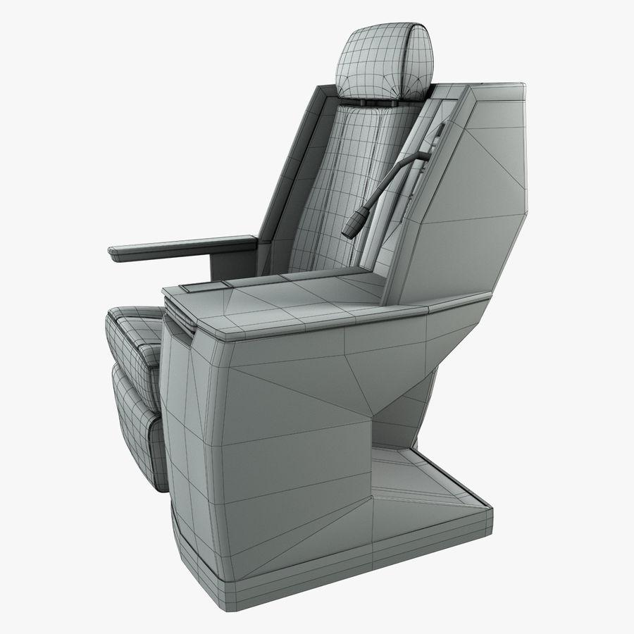 头等舱飞机座椅(Rigged) royalty-free 3d model - Preview no. 9