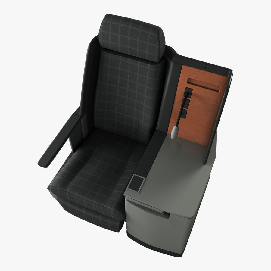 First Class Airplane Seat (Rigged) royalty-free 3d model - Preview no. 10